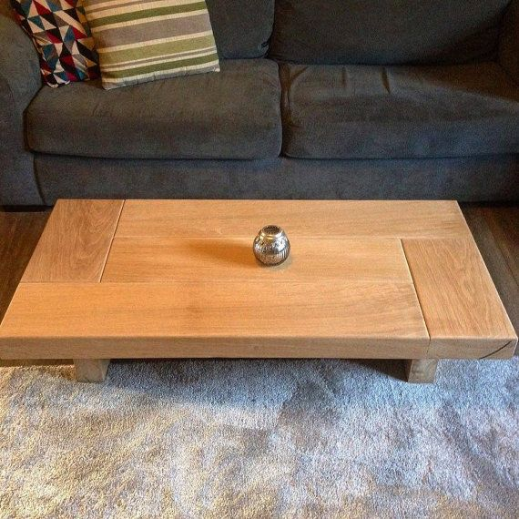Oak Coffee Table Sleeper Wood Low Handmade