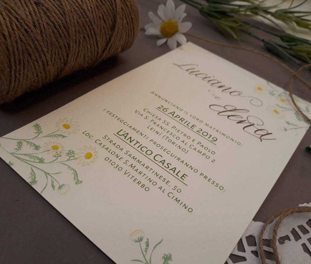 Partecipazioni Matrimonio Tema Country Chic Fiori Di Campo Margherita Camomilla Matrimonio Personalizzato Partecipazione Di Matrimonio Coppie Di Sposi