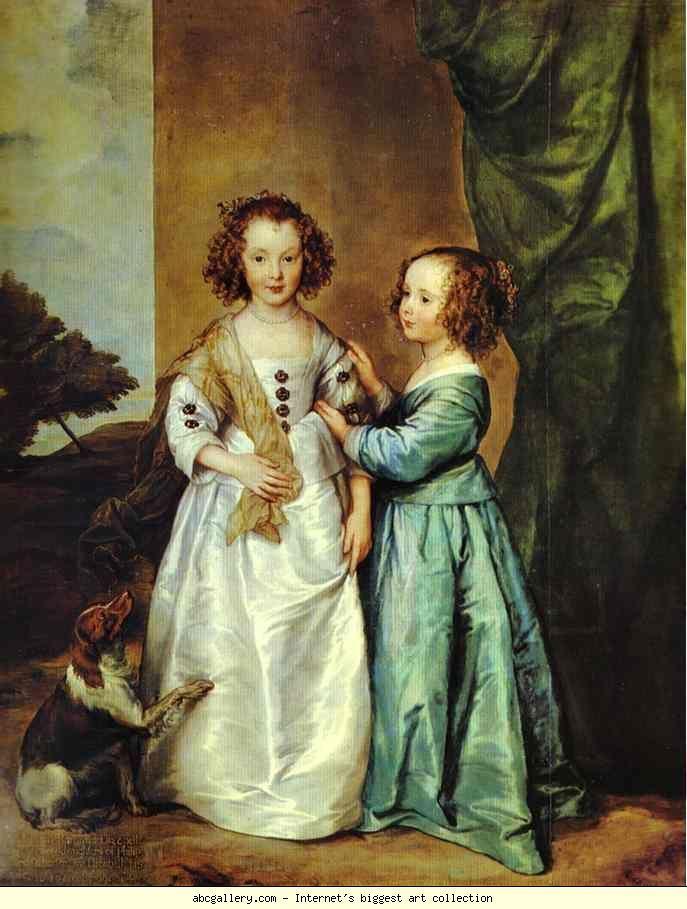 Anthony van Dyck. Portrait of Philadelphia and Elizabeth Wharton. 1630s