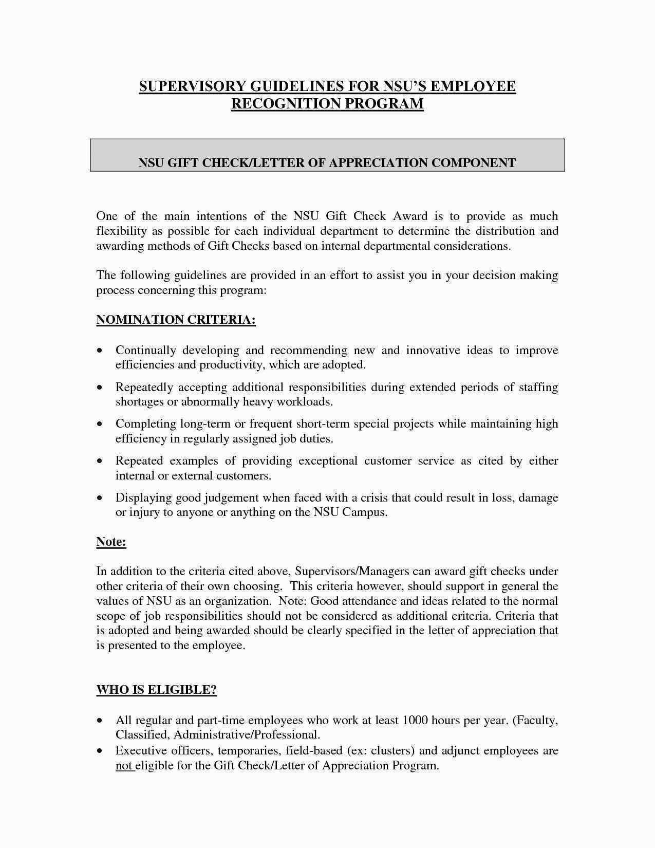 Download Best Of Sample Appreciation Letter For Job Well