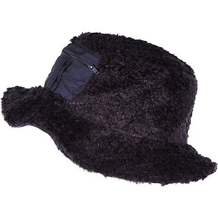 3bdcf1bd Navy Christopher Shannon faux fur bucket hat in 2019 | Products ...