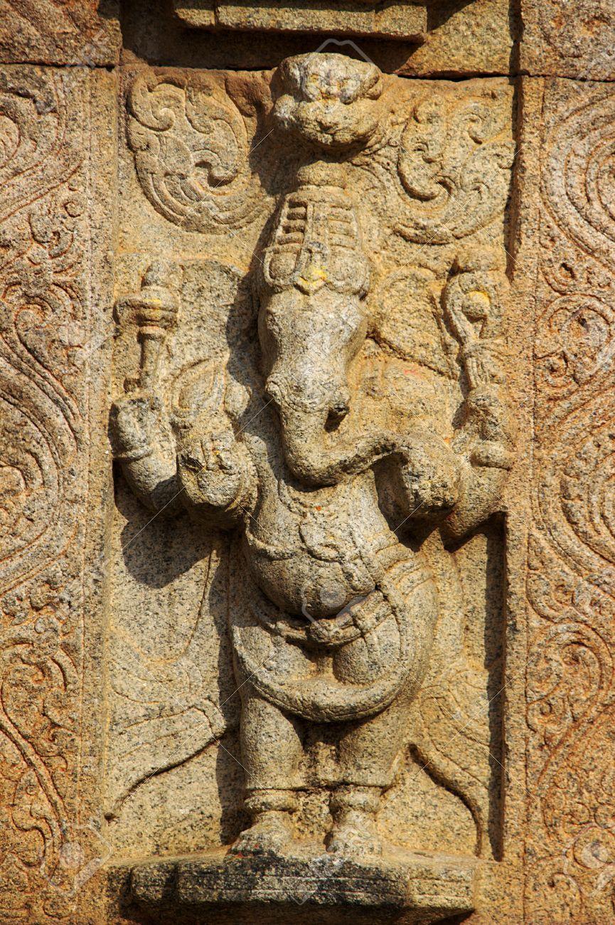 39675983 sculpture of standing ganesha on stone wall at narasimha