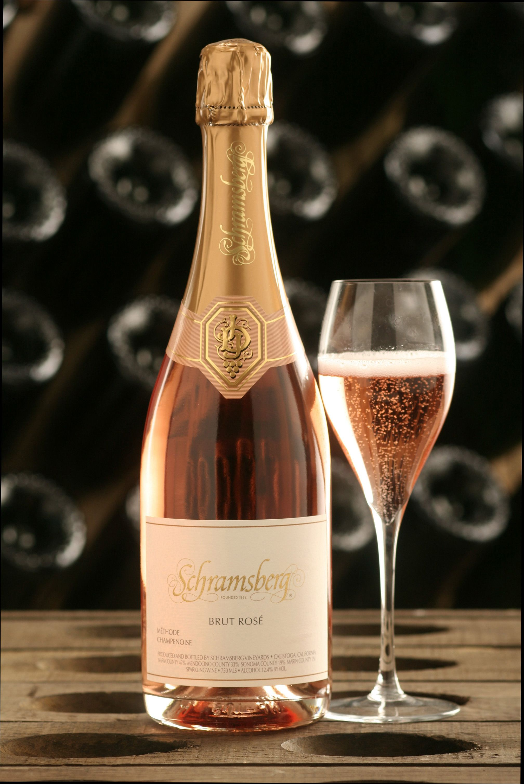 Pouring Wine Pink Bubbles Alcoholic Drinks Beverages