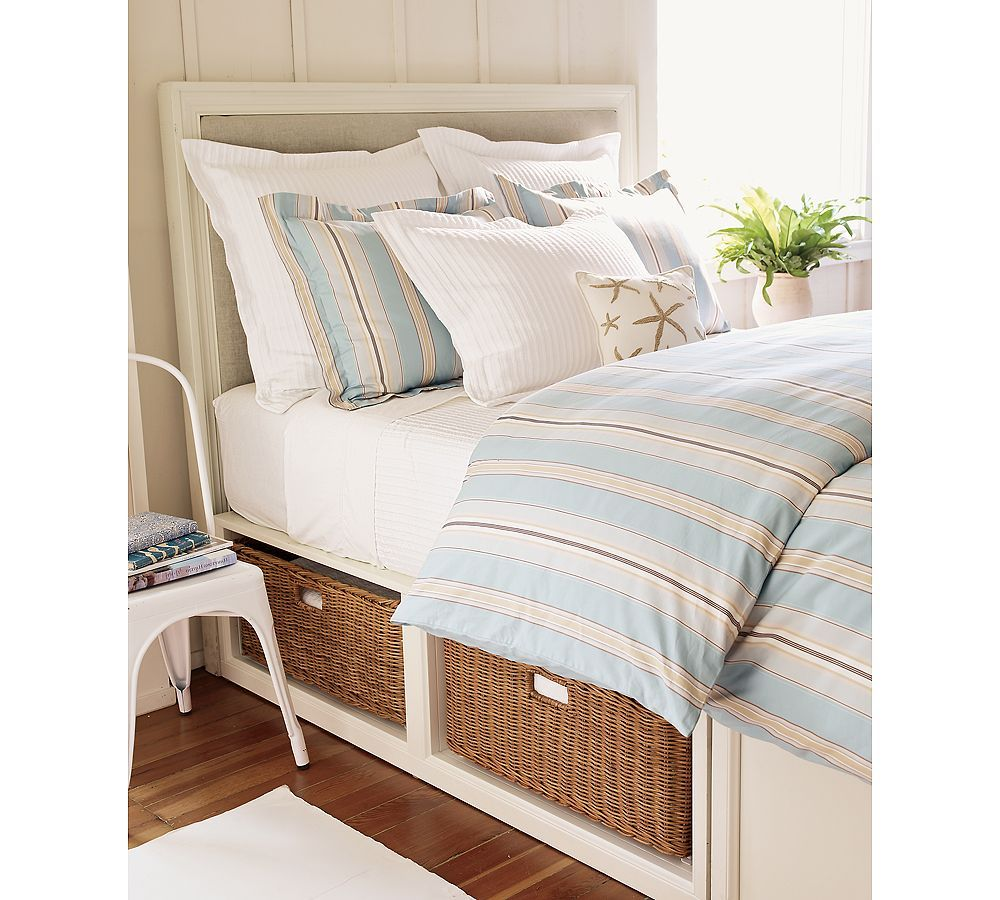 platform beds with storage baskets | Stratton Bed with ...