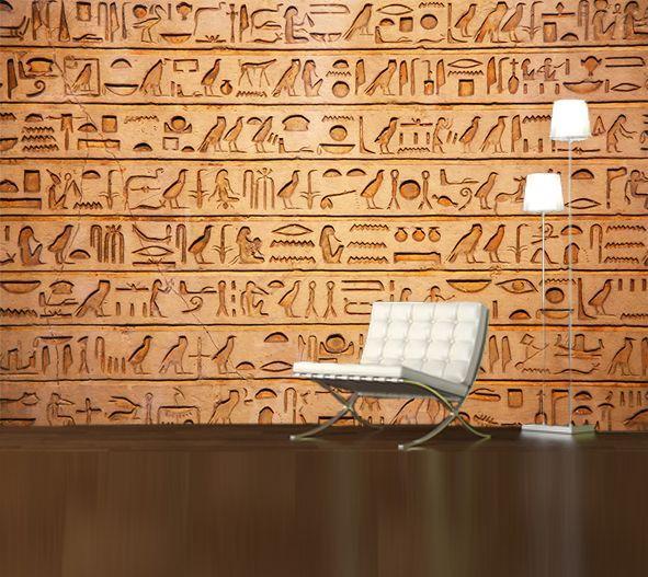 Hieroglyphics wall panels decor