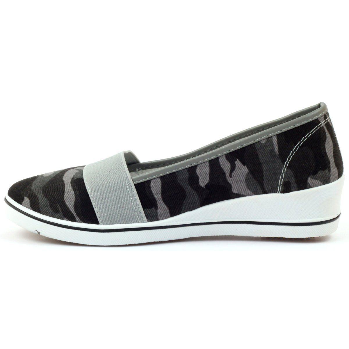 Tenisowki Moro Na Koturnie Mckey 182 Zielone Slip On Sneaker Sneakers Shoes