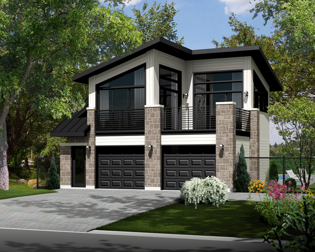 Contemporary Style House Plan 1 Beds 1 Baths 490 Sq Ft Plan 25 4753 Carriage House Plans Garage House Plans Garage House