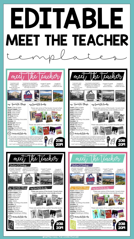 editable meet the teacher resource #meettheteacherideas