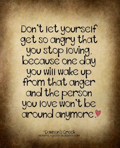 Love And Anger Quotes: Heartfelt Quotes: Don't Let Yourself Get So Angry That You