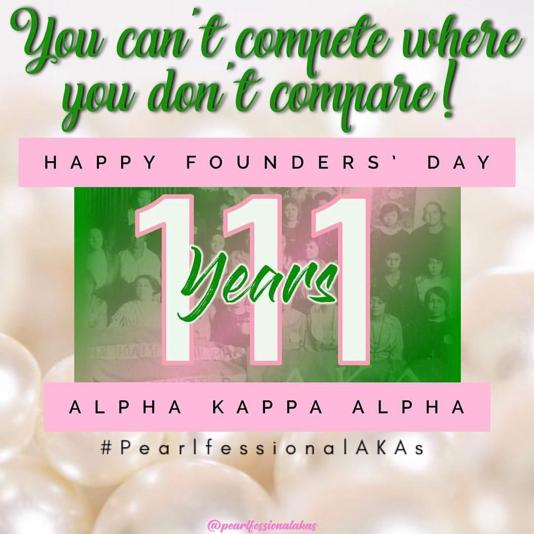 "Pearlfessional_AKAs on Instagram: ""��Happy Founders' Day to our oh so pearlfessional Sorors of Alpha Kappa Alpha Sorority, Inc!! 111 years of service to all mankind and we're…"""
