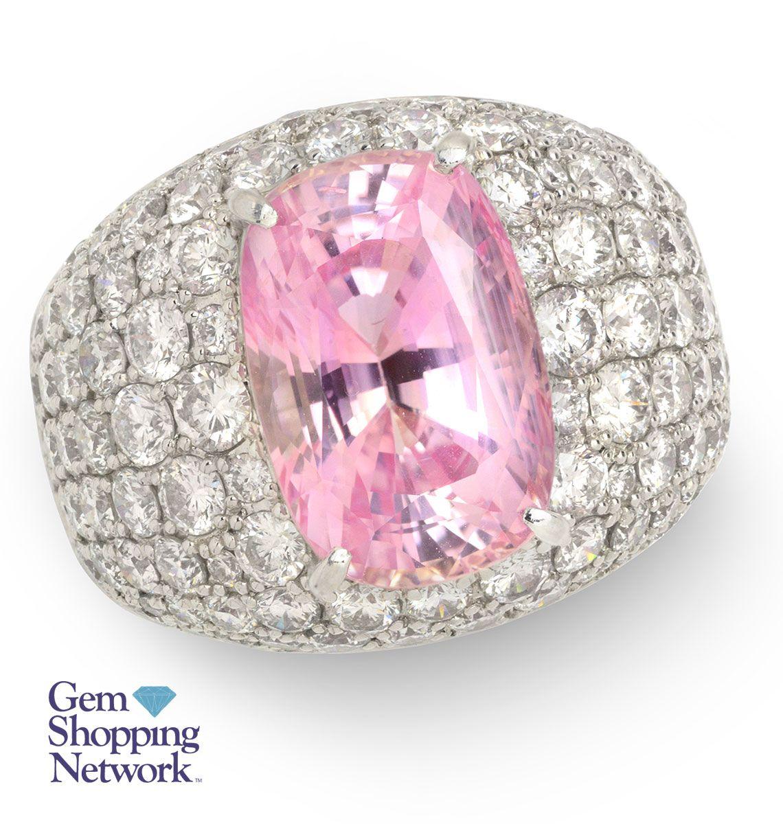 9.07 ct Padpadradscha Sapphire & 3.54 ctw Diamond Ring If you love ...