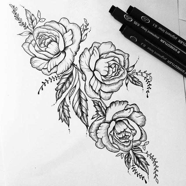 Roses inspiration tats pinterest tatouage fleur - Tatouage lion epaule ...