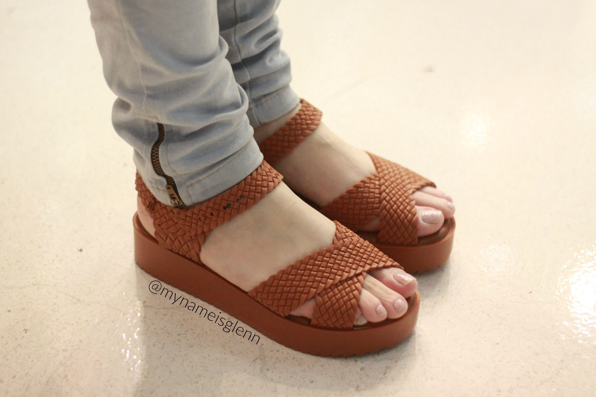 42b6c553d melissa hotness salinas mashup marrom Sapatos Femininos Confortaveis