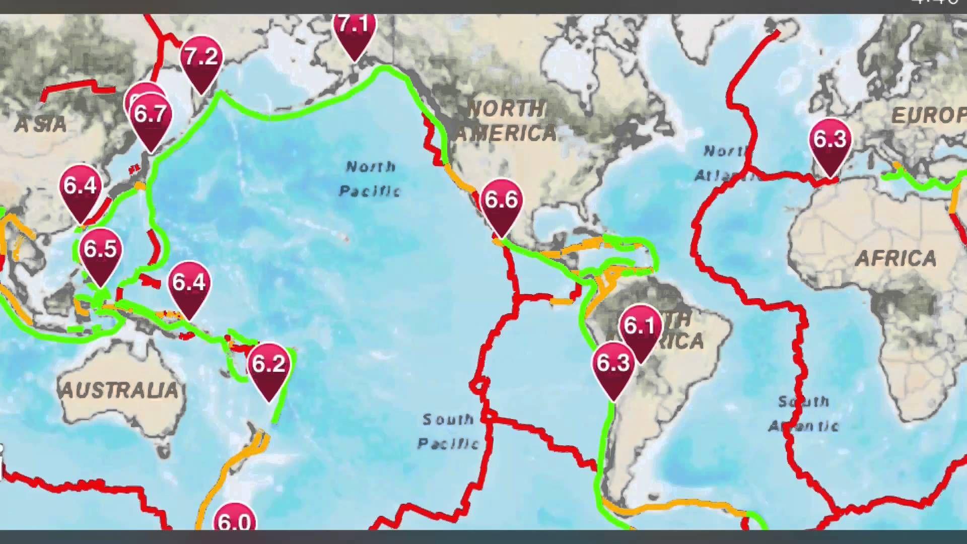 Earthquakes Increasing 2016 Earthquake