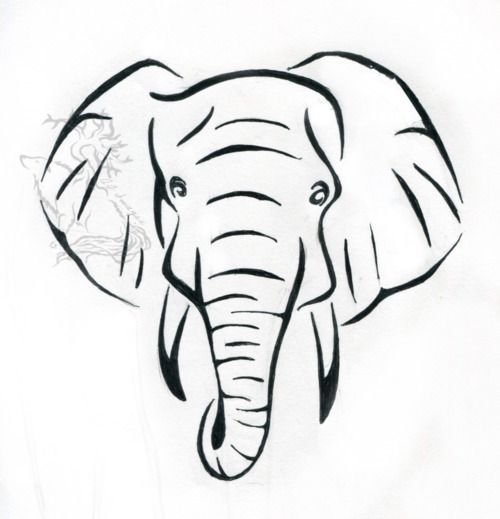 Elephant Design Google Search Elephant Head Tattoo Elephant Face Drawing Elephant Tattoos