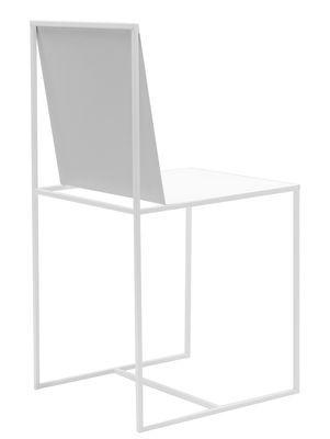 Chaise Slim Sissi / Métal Blanc - Zeus - Décoration et mobilier ...