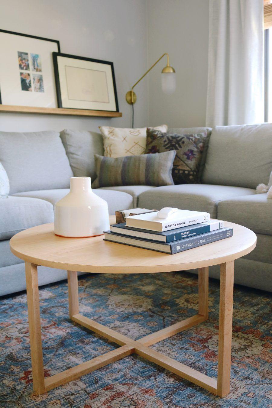 Diy Modern Round Coffee Table Coffee Table Wood Coffee Table Living Room Round Coffee Table Diy [ 1350 x 900 Pixel ]