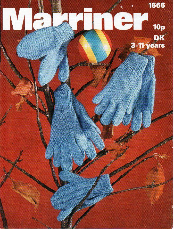 childrens gloves mittens knitting pattern pdf childs 2 needle gloves ...