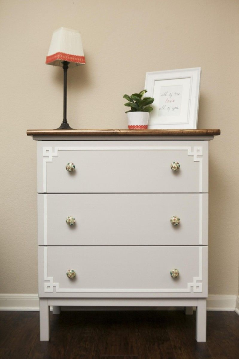 ikea tarva dresser refinished. White IKEA Dresser Hacks And Transformations Ikea Tarva Refinished