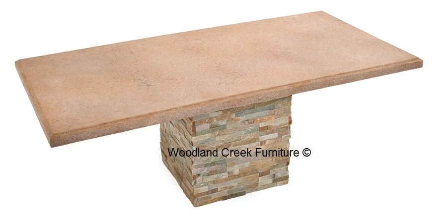 Casual Outdoor Table, Patio Furniture, Stone Top, Concrete | Woodland Creek  Furniture | Concrete U0026 Stone Tables | Pinterest | Outdoor Tables, Concrete  And ...