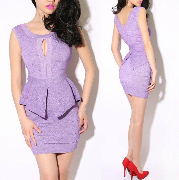 Aliexpress.com: Comprar Real PHOTO Peplum vestido del vendaje de ...