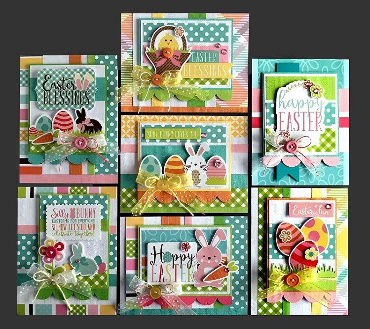 Hoppy Easter Card Kit Kim S Card Kits Handmade Card Making Kit