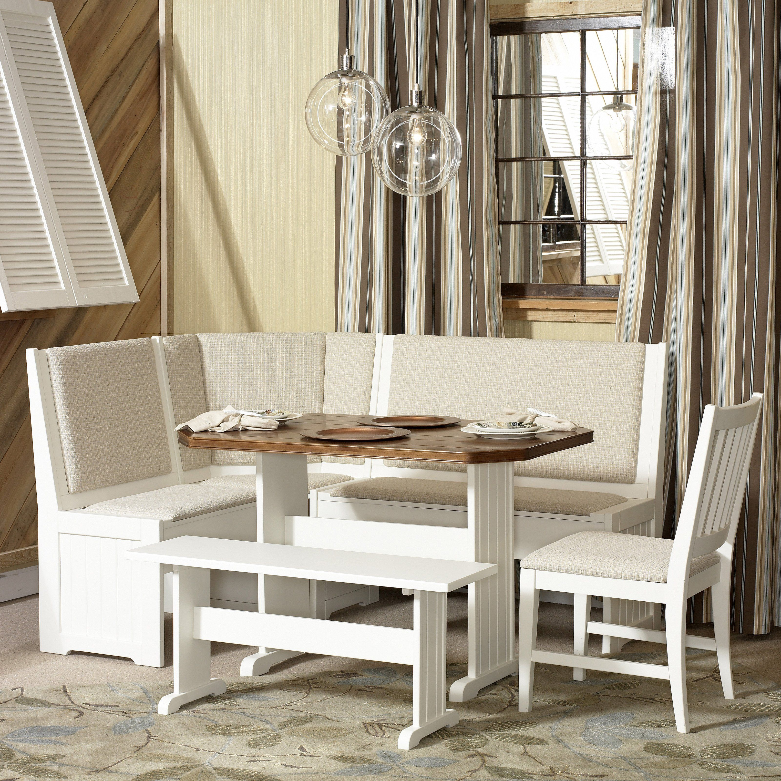 Store-bought breakfast nook: Powell Daisy Kitchen Nook Set $699.98 ...