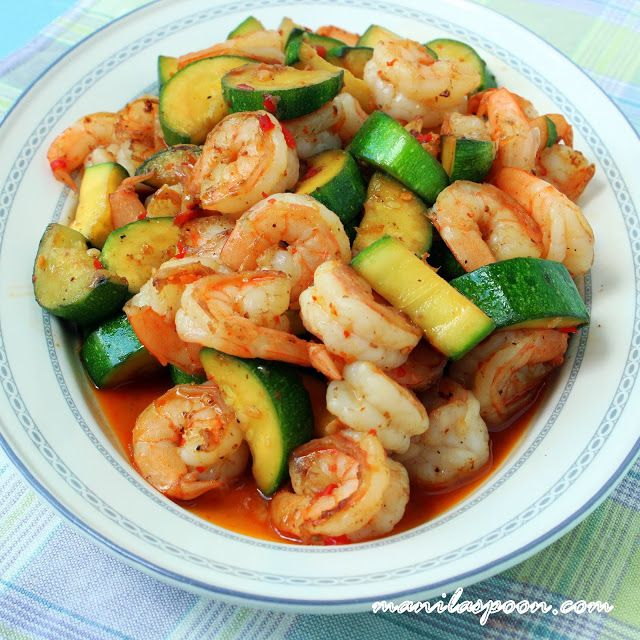 64 Easy Dinner Recipes For Two: Sweet And Spicy Shrimp And Zucchini Stir-Fry @manilaspoon