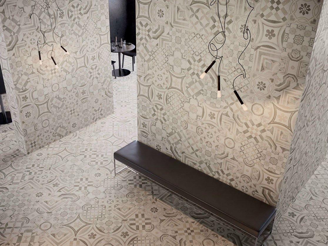 Pavimento rivestimento in gres porcellanato cementine warm by