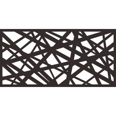e-Joy 4 ft. H x 2 ft. W Laser Cut Metal Privacy Screen Fencing   Wayfair