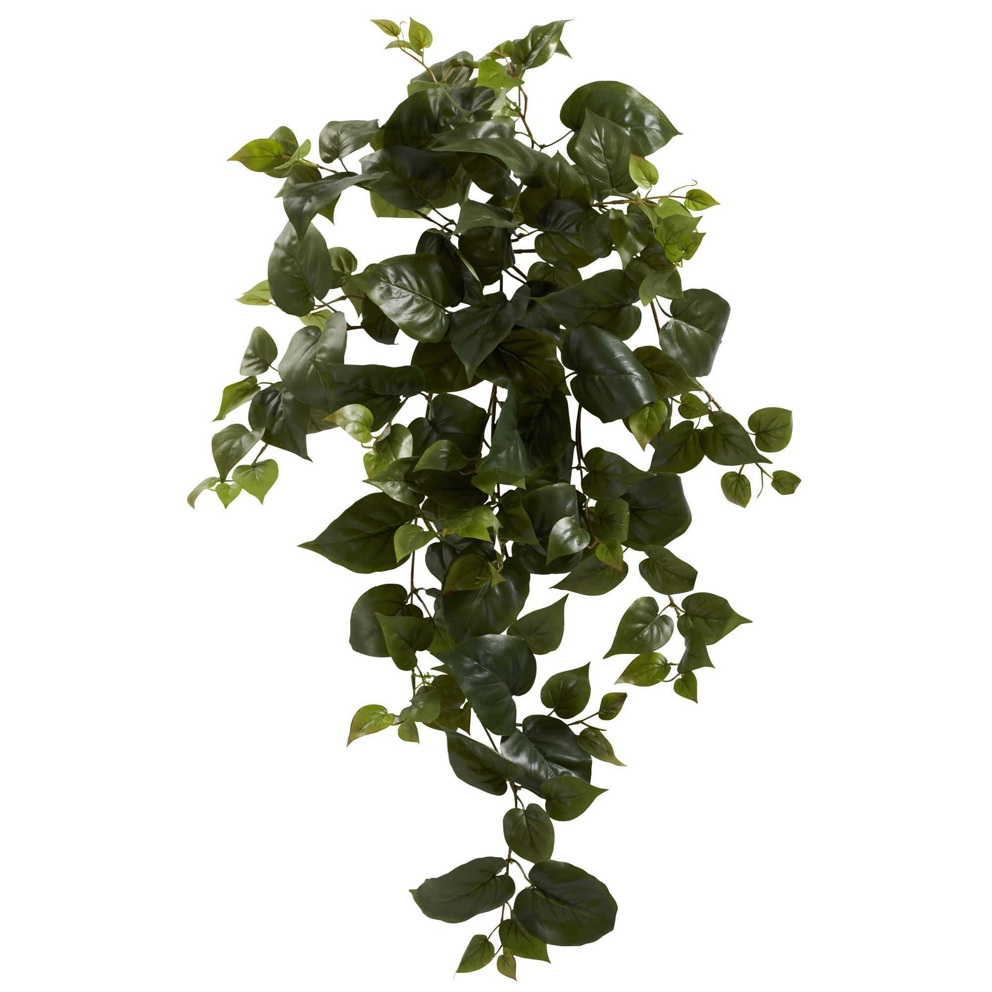 Many Small Delicate Green Leaves Combine To Create A 34 Inch Curtain Of Foliage In This Artificial P Hanging Plants Artificial Plants Artificial Plants Indoor