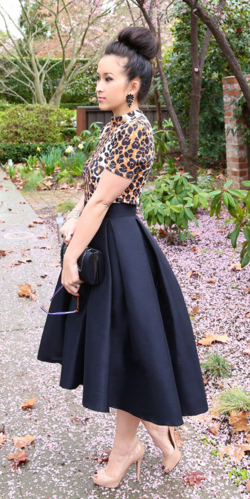 cb7ca53bbd hi low pleated skirt More Black Pleated ...