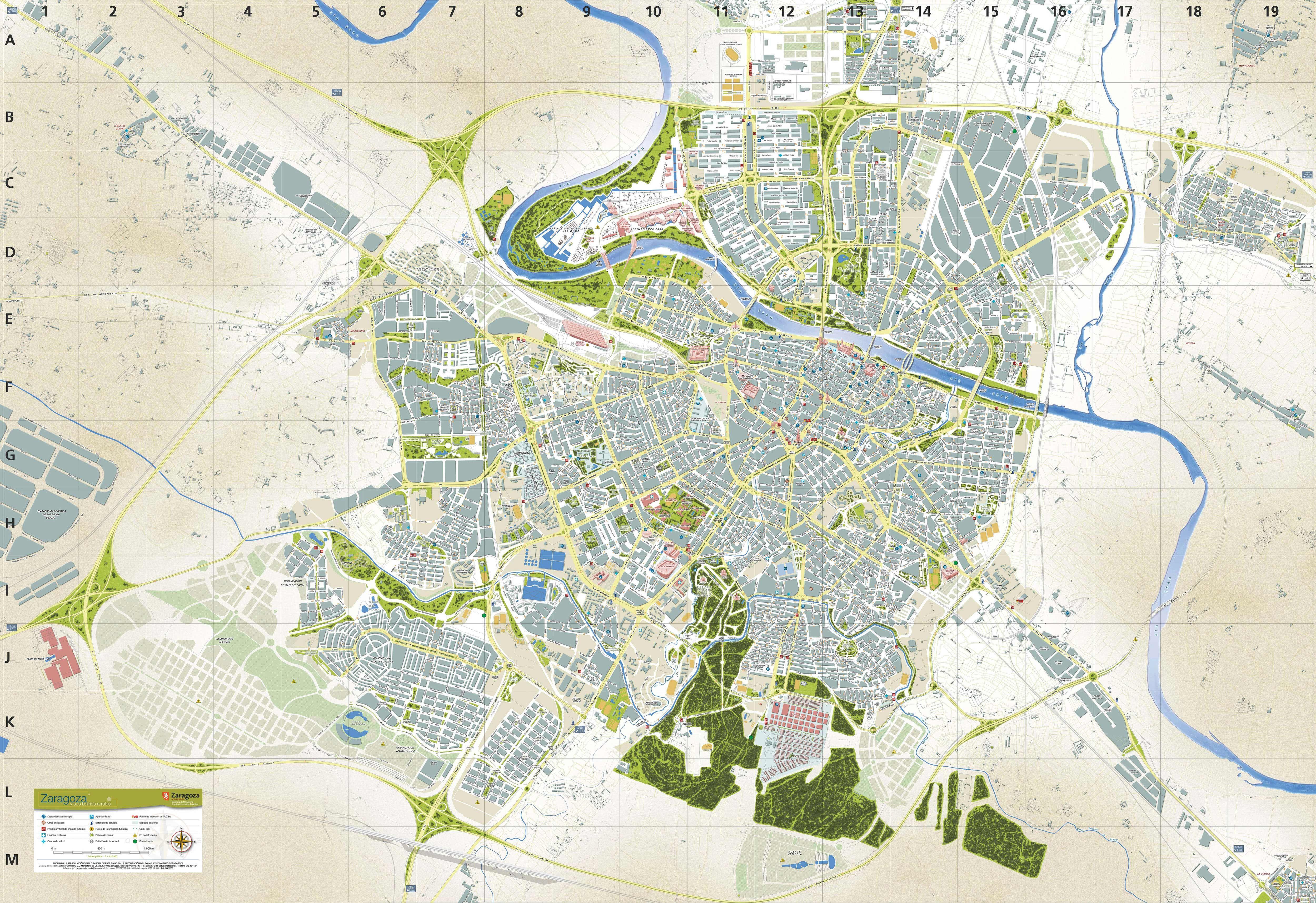 Plano Zaragoza Actual Zaragoza Mapas Ciudades