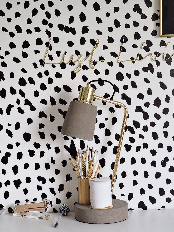 Dalmatian Print Wallpaper Wallpaper bedroom feature wall