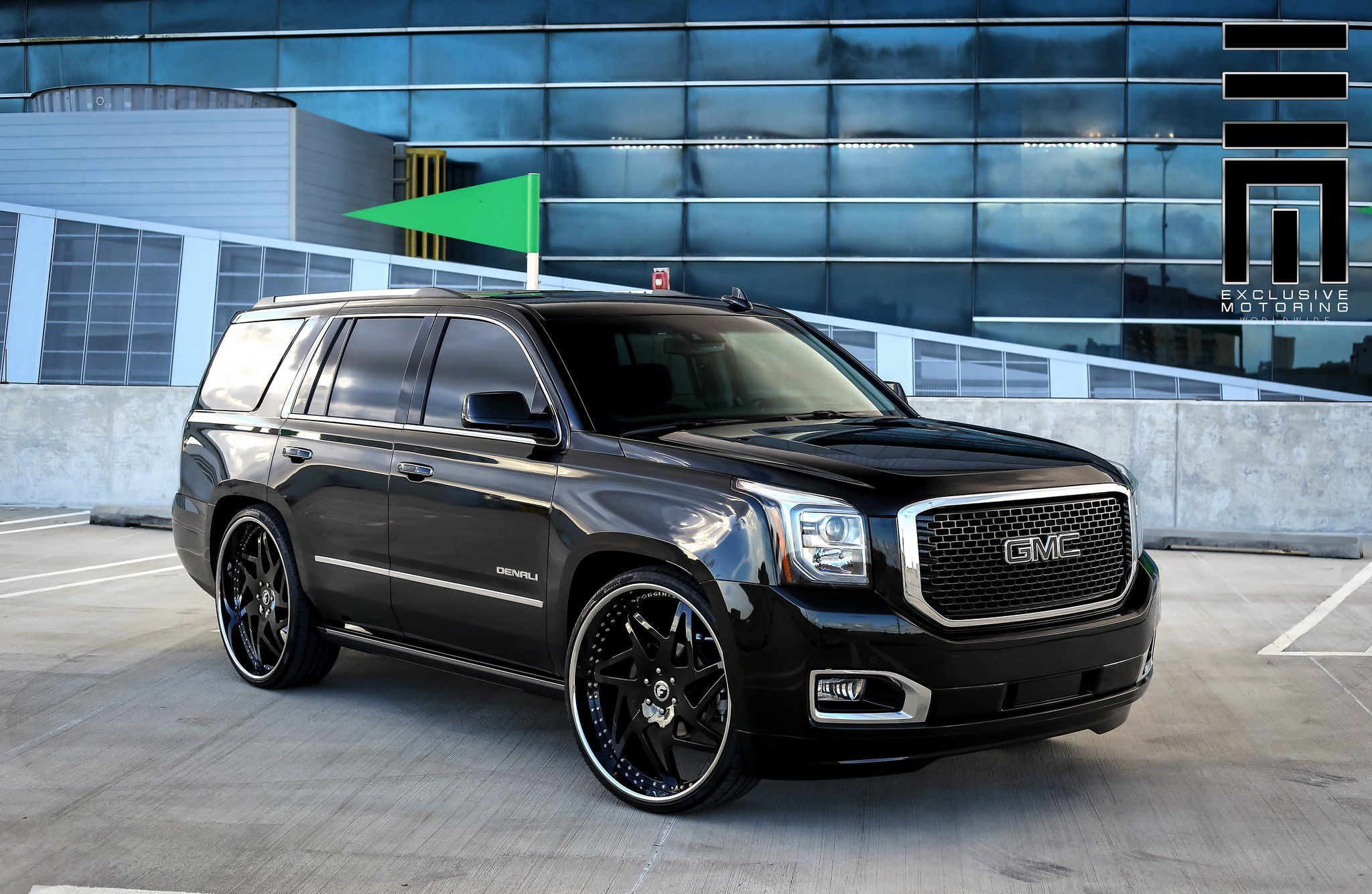 Late Model Yukon Denali On Forgiato Rims By Exclusive Motoring Yukon Denali Gmc Yukon Gmc Yukon Denali