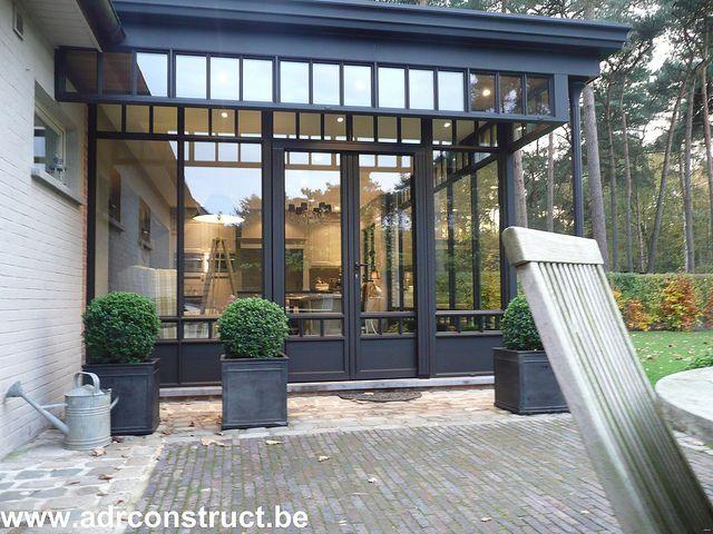 Steel look veranda 39 s by adr construct via flickr doors windows idea pinterest steel - Verriere dak ...