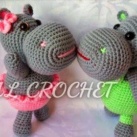 Patrones Amigurumi: Hipopótamo amigurumi