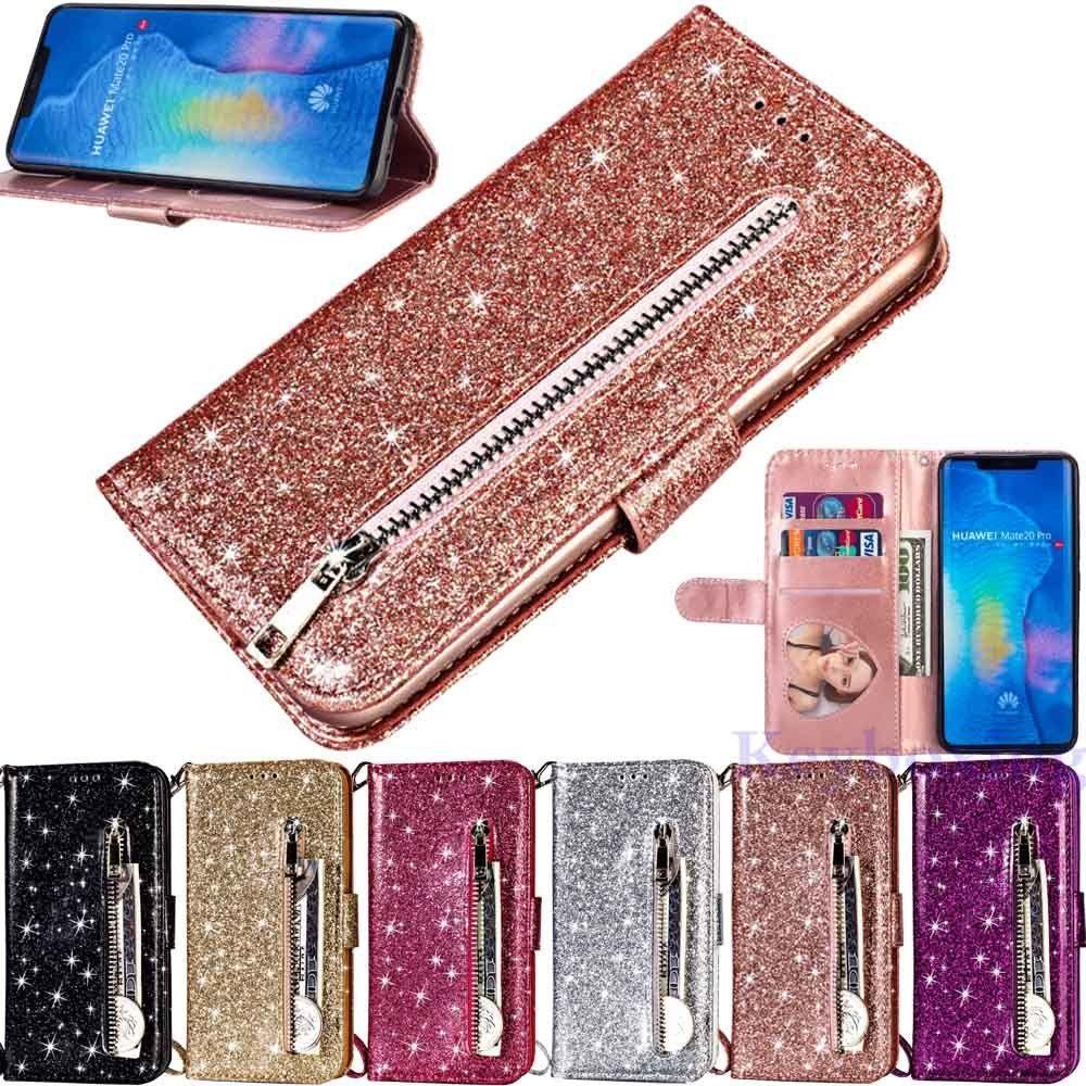 Glitter Iphone Case Ideas Glitteriphonecase Glitterphonecase For Huawei Mate 20 Pro P20 Mate 10 Lite G Leather Wallet Glitter Iphone Case Glitter Phone Cases