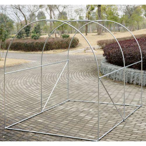Soldes Homcom Serre de jardin tunnel zincage tente bache 2,5x2x2m ...