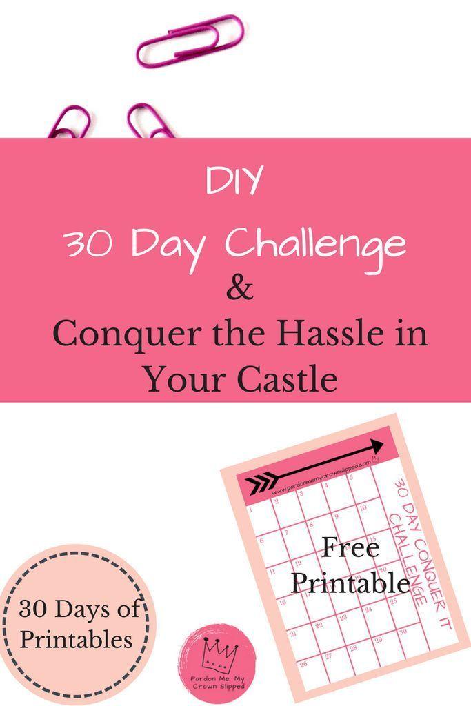 DIY 30-Day Challenge Printable Crown, Tween and Parents