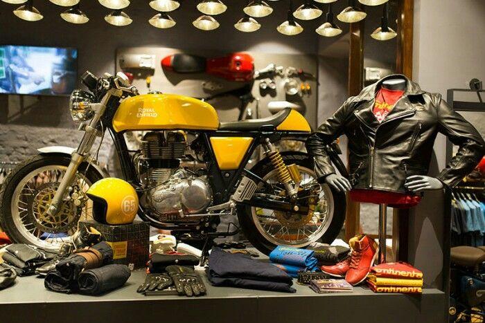 Motorcycle display, visual merchandising