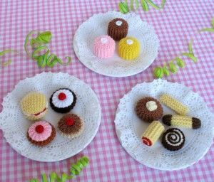 Tea Party Treats Biscuits Cakes Crochet Food Stuffed Toys