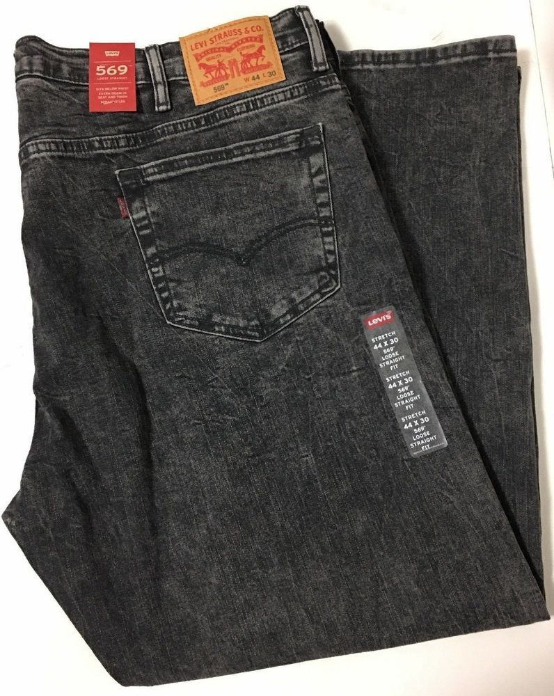 4ae8c31d416 Levi's 569 Men's Loose Straight Gray Jeans Size 44x30 - $60 NWT #Levis  #LooseStraight
