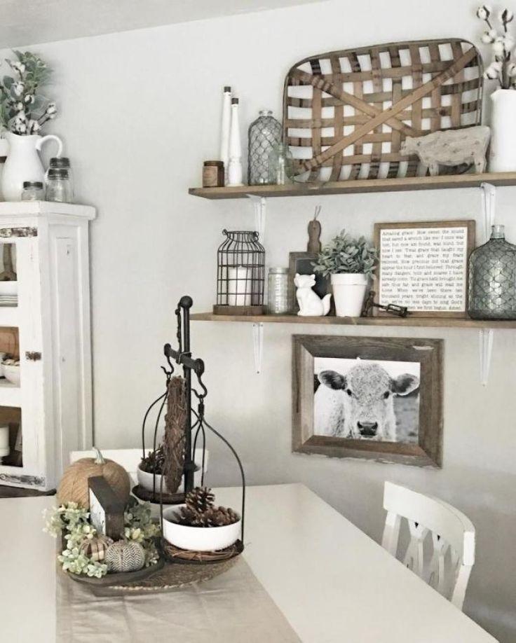 40 Totally Stunning Farmhouse Wall Decor Ideas Idee Deco Maison