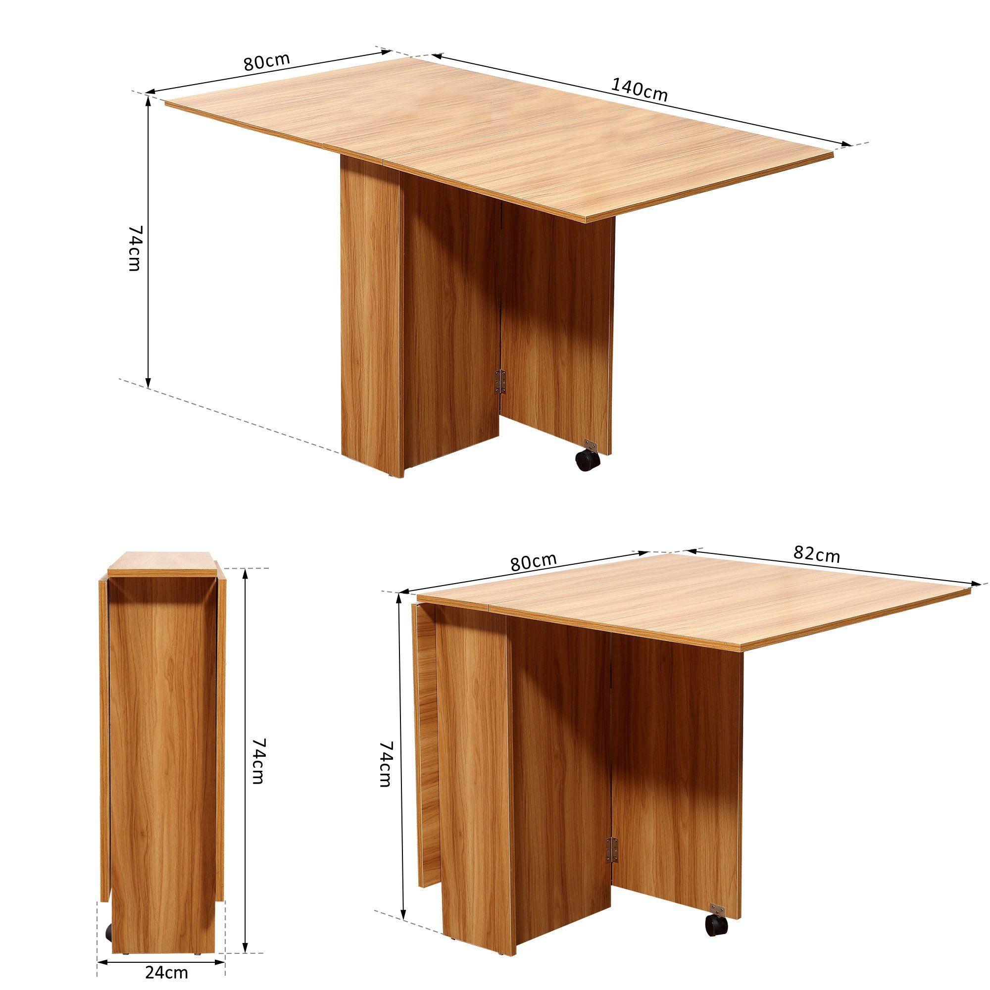 Tavolo Da Pranzo Pieghevole.Table De Cuisine Salon Table Pliable Table Mobile Sur Roulettes Dim 140l X 80l X 74h Cm 2 Etageres Integrees Coloris C In 2020 Home Decor Dining Table Decor