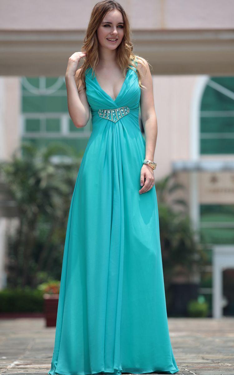 Realtree wedding dresses  Blue Deep Vneck High Waist Bridesmaid Long Evening Dress  Bikini