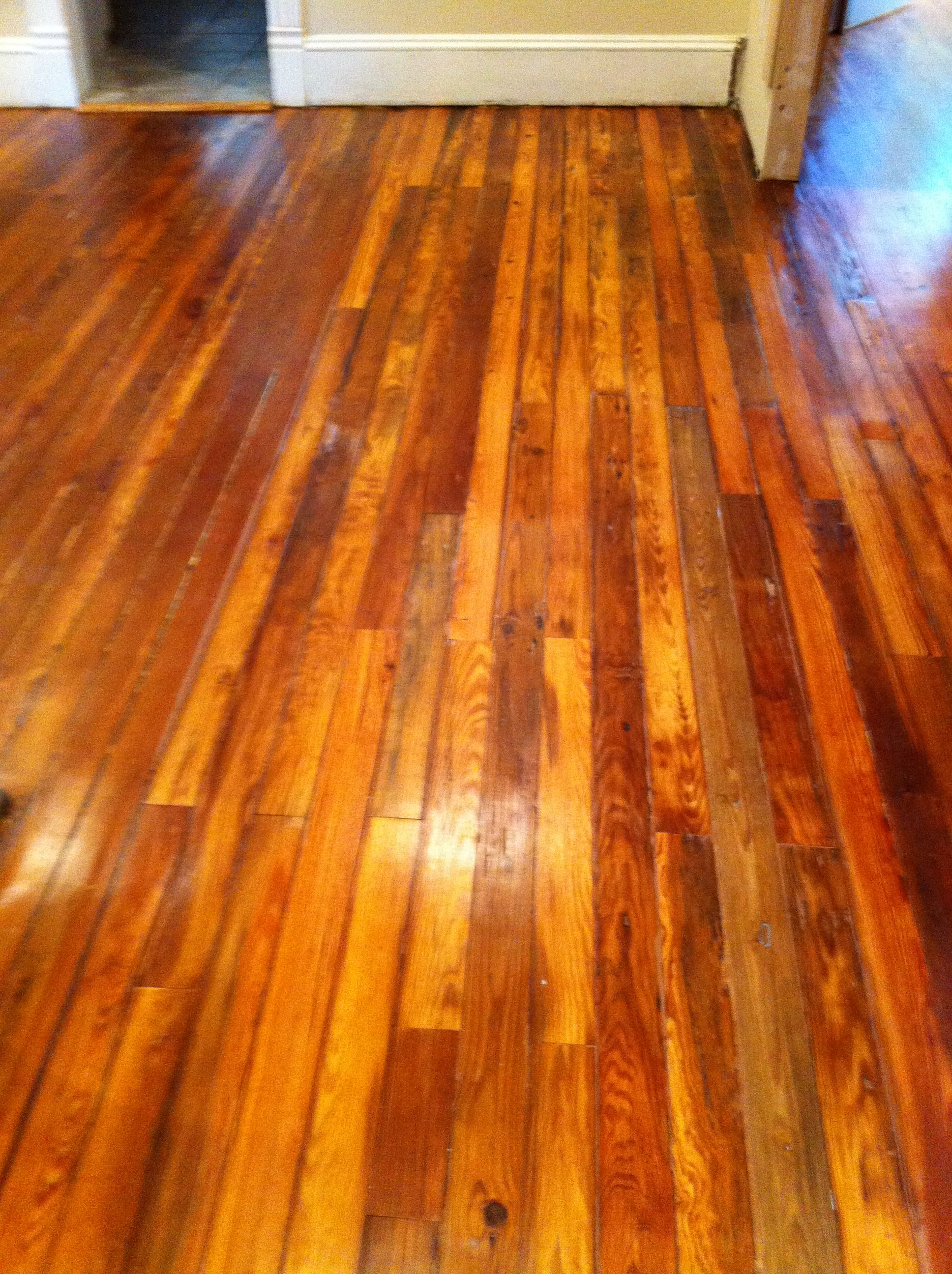 Refinished old yellow pine floors google search for Refinishing painted hardwood floors