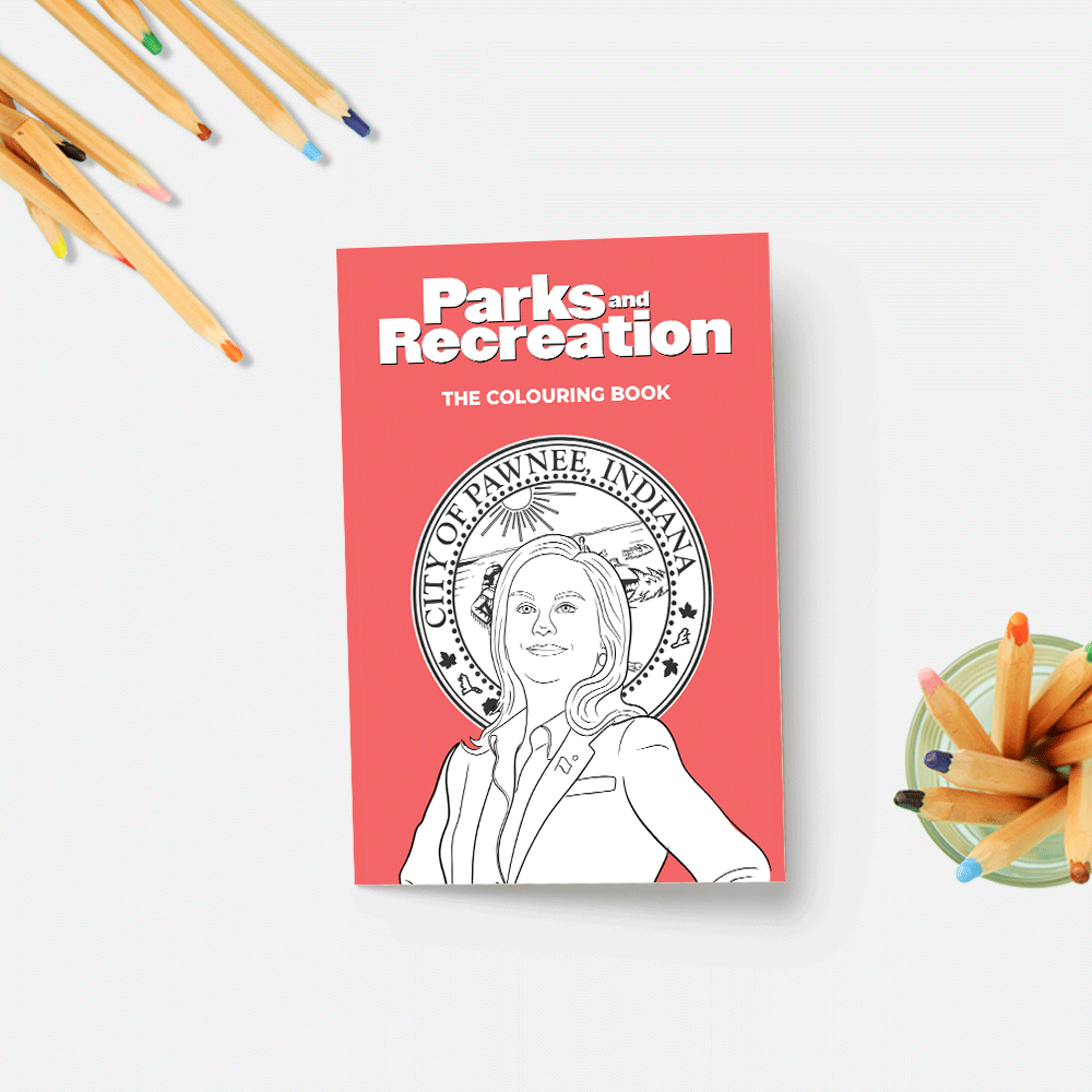 Parks And Rec Colouring Book In 2020 Coloring Books Parks And Recreation Rainy Day Activities