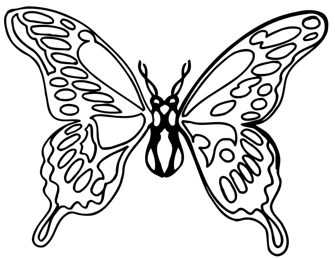 Free Butterfly Clip Art Black And White Butterfly Clip Art Butterfly Drawing Butterfly Black And White