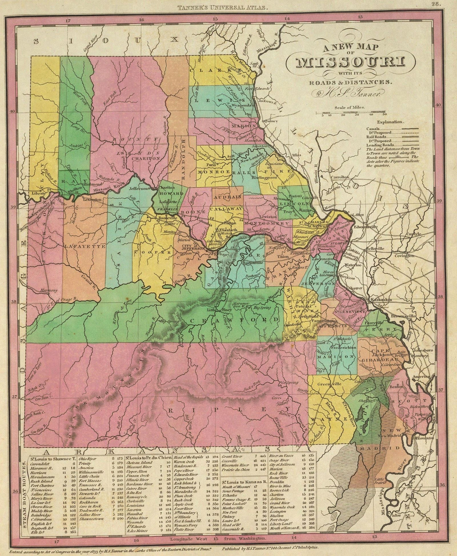 State And County Maps Of Missouri